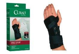 (Curad Suede Lace-Up Wrist Splint, Left, Medium)