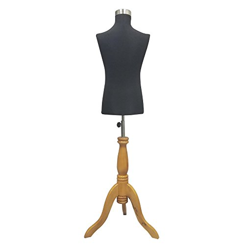 Child Mannequin Dress Form Black on Wooden Tripod Base 27