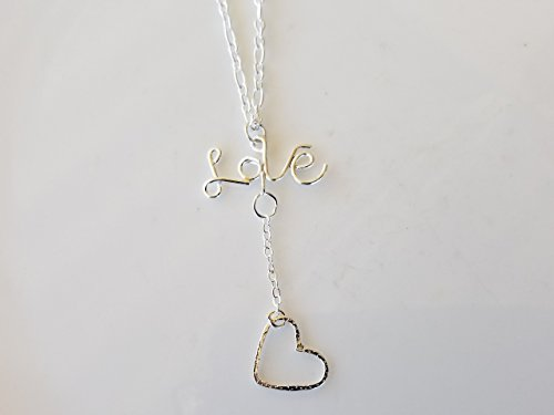Love Monogram Letters Open Heart shape charm Sterling Silver Pendant Necklace Romance Timess - Monogram Letter Charm