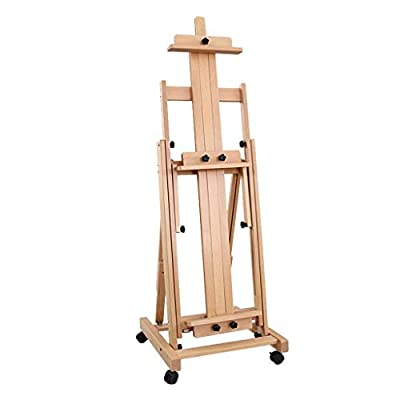 Easel Nationwel@ Beech Wood Horizontal and Vertical Dual Use Traditional Chinese Painting Oil, Landing Solid Wood Lift Fold Professional Large, Elm, Multifunction Real Estate Display Stand