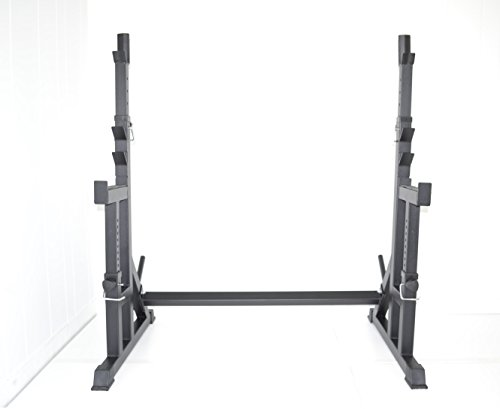 squat rack w   bench safety stands h d  adjustable power weight racks by atlas