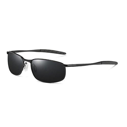 Rétro TL Lunettes Vintage Hommes Hommes gray Polarisée Teintes black UV400 Sunglasses Lunettes Classique de Soleil Aqw8FAr