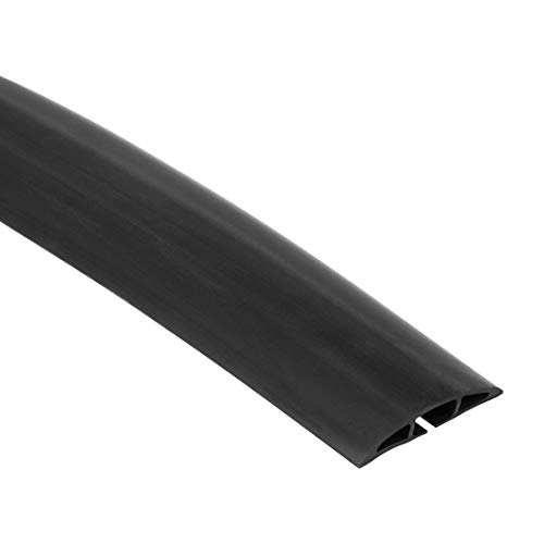 AmazonBasics Low Profile Rubber Duct Floor Cord Cover/Protector - 5-Foot, Black