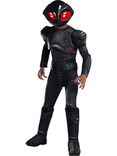 (Rubie's Boys Aquaman Movie Child's Deluxe Black Manta Costume,)