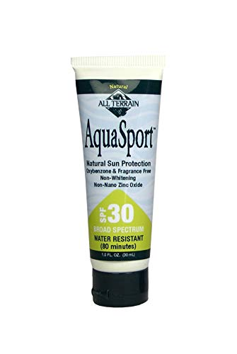 All Terrain AquaSport 1 Ounce (3 Pack) SPF 30 Natural Sunscreen Lotion, Oxybenzone- Paraben- Chemical-Free, Water and Sweat Resistant for Active, Outdoor Lifestyles, Protects Skin from UV Rays (All Terrain Aqua Sport Sunscreen)