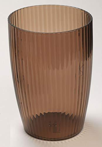 Ben & Jonah Ribbed Acrylic Waste Basket in Brown Splash Collection by Ben&Jonah ()