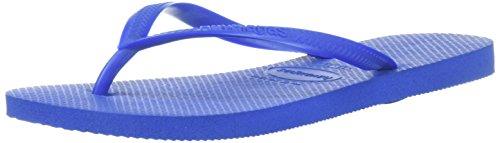 Havaianas Women's Slim Flip Flop Sandal, Blue Star, 37/38 BR (7-8 M US)