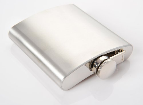Huntington 5 oz. Stainless Steel Hip Flask Silver 1947 (US)