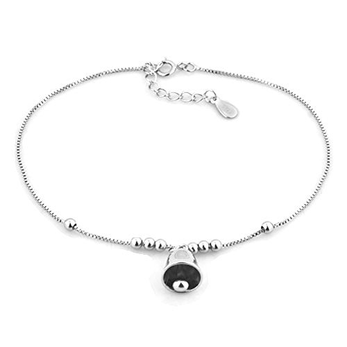 Charmed Craft 925 Sterling Silver Bling Bells Beach Anklets Ankle Holiday Bracelets Women Girl Jewelry