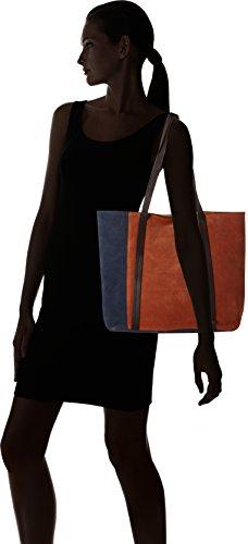 ESPRIT - 087ea1o066, Bolsos totes Mujer, Orange (Burnt Orange), 14x32x34 cm (B x H T)