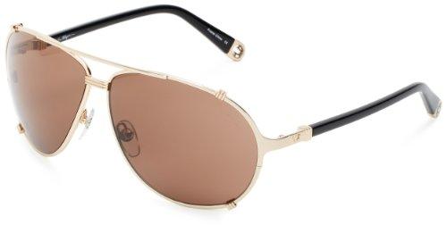 True Religion Tony Aviator Sunglasses, Black And Shiny Gold, 63 - Sunglasses Aviator True