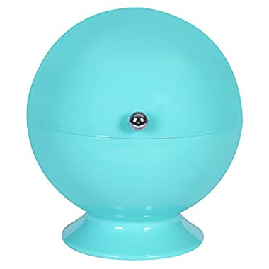 Acrylic Roll Top Sugar Bowl (Turquoise)