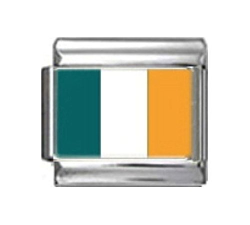 Stylysh Charms Ireland Irish Flag Photo Italian 9mm Link PC084