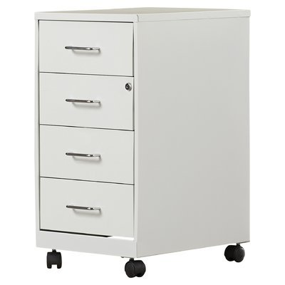 4 Drawer Steel Mobile File Cabinet Smooth Glide Contains Recycled Materials Eco-friendly Holds Letter and Legal-size Papper and Office Supplies