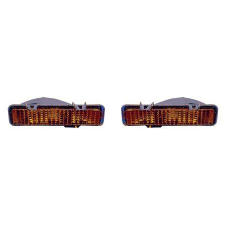S15 Parking Signal Light (Chevrolet/GMC Blazer /Jimmy 83-1994/S10/S15/Sonoma Pickup 82-1993/Oldsmobile Bravada 1991-1994 Parking Signal Light Unit Pair Driver and Passenger Side GM2520109, GM2521109)