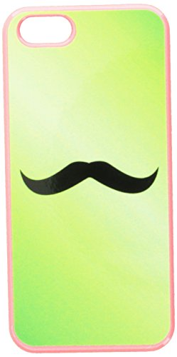Graphics and More Mustache Funny Green Snap-On Hard Protective Case for iPhone 5/5s - Non-Retail Packaging - Pink