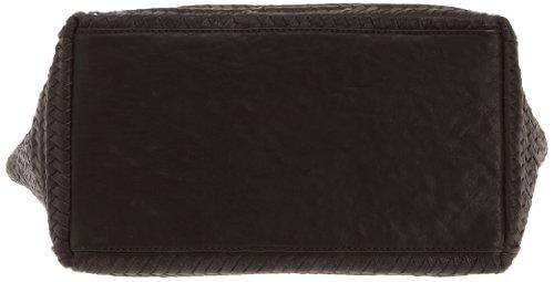 Loxwood Ramita GM Tressé - Bolso de mano de cuero para mujer Negro (Schwarz (Black))