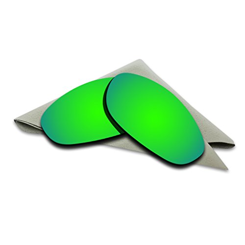 Emerald Green Mirrored Polarized Lenses Replacement for Oakley Monster Dog Sunglasses