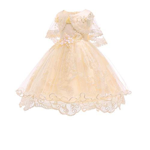 New Cinderella Dress Princess Costume Girl Princess Dress Up Halloween CostumeYellow,24M -
