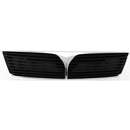 Evan-Fischer EVA17772028642 Grille for Mitsubishi Lancer 02-03 Chrome Shell/Painted-Dark Gray Insert - Mitsubishi Lancer Grille Replacement