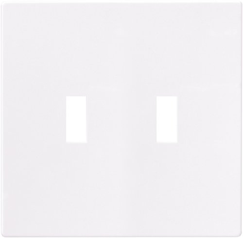 EATON PJS2W Arrow Hart Pjs2 Mid Size Screw Less Wall Plate, 2 Gang, 4-7/8 In L X 4.56 In W X 0.08 In T, White ()
