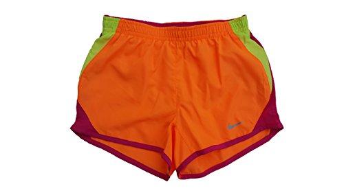 Nike Little Girls or Toddler Girls 10K Colorblocked Shorts ( 6X, Bright Citrus (322139-288) / Volt/Reflective Silver)