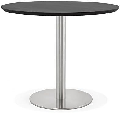 Générique Mesa de Diner Design Jamie Black 90 x 90 x 75 cm: Amazon ...
