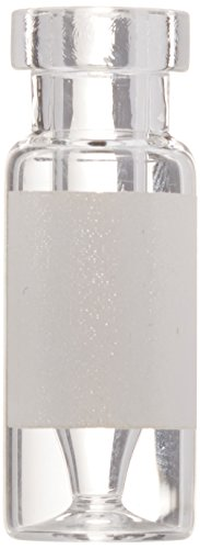 National Scientific C4011-LV1W Clear Glass I-D Target Snap-It Crimp/Snap Vial, 11 mm, Fused Insert, 250 µl Capacity (Pack of 100)