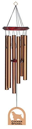 Chimesofyourlife E4428 Wind Chime, Cocker Spaniel/Bronze, 27-Inch