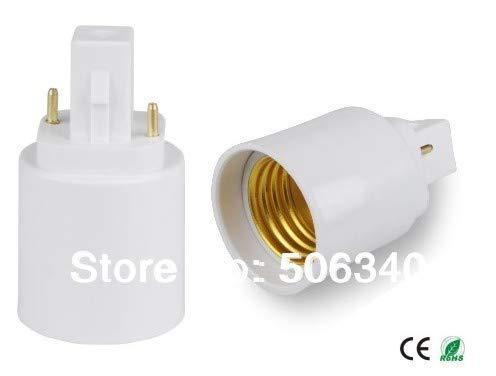 Halica (SPL-088-L8) 100pcs/lot 2 pins G24 to E27 lamp socket adapter G24d to E26 adapter