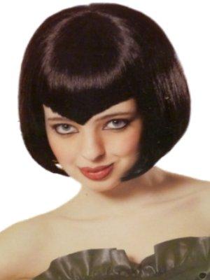 Womens Short Vampire Wig with Widows Peak