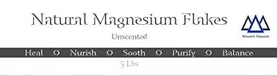 Natural Magnesium Flakes Wasatch Naturals 5 lb Bag