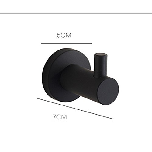 hot sale 2017 AUSWIND Black Oil Bronze Coat Hooks Round Base Clothes Hook Stainless Steel Bathroom Accessories (1)