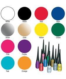 Mehron Makeup Detailz Face & Body Paint, SILVER- .17oz (Detailz Liquid Eyeliner)