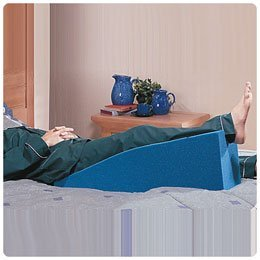 Rolyan Leg Elevating Splint, Vinyl Extra Long Leg Rest and Stabilizer, Leg Bolster for Sleeping, Elevated Foam Cushion for Fixed and Supine Recovery Position, 8'' High x 34'' Long x 8'' Wide by Rolyan