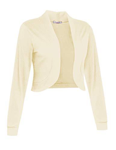 - Sufiya Women Long Sleeve Bolero Shrug Light Cropped Cardigan Open Front Thin Jacket