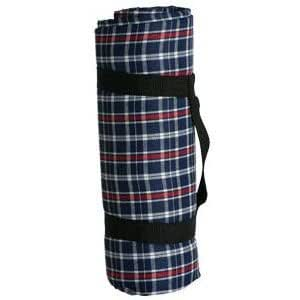 Sutherland Water Resistant Picnic Blanket - Red/White/Blue Plaid Picnic Blanket - SPR4017A2 -