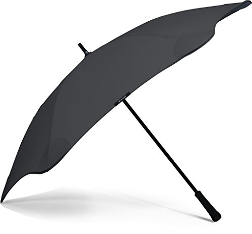 "BLUNT Classic Umbrella with 47"" Canopy and Wind Resistant Radial Tensioning System - Black"