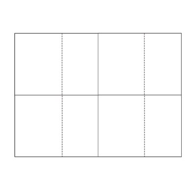 Four-of-a-Kind Standard White Blank Utility Postcards (1,000 sheets/4,000 postcards)