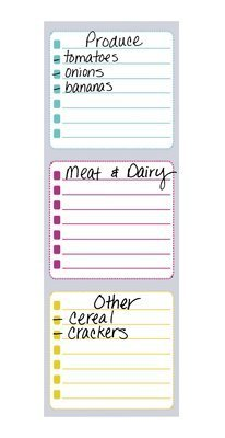 Post-it® List Notes with Color-Coded sections,Pastel Pop Collection, 3 in x 7 in, 1 Pad/Pack, 25 (Pastel Colors List)