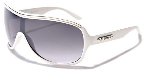 White Oversized Shield Womens Eyewear Fashion - 221 Sunglasses