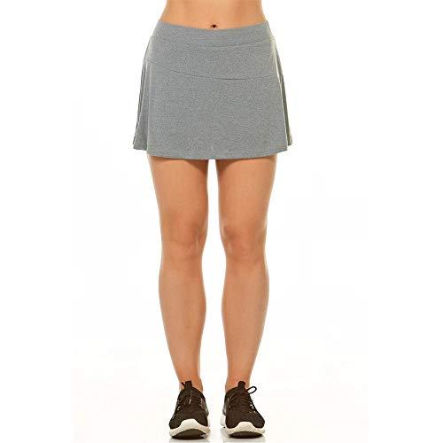 Shorts Saia Alto Giro Basic Cinza M