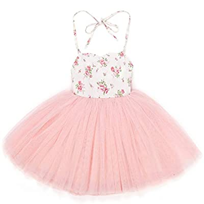 Flofallzique Special Occasion Girls Dress Pink Tutu Wedding Christening Birthday Baby Toddler Clothes