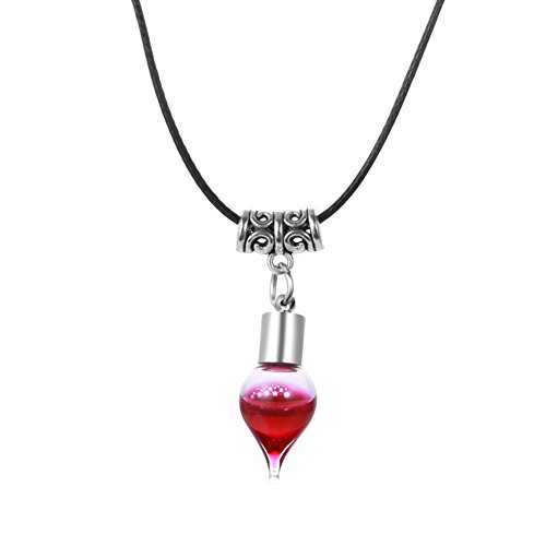 [Halloween's Vampire Blood Vial Long Cord Pendant Necklaces] (Wine Bottle Costumes Halloween)
