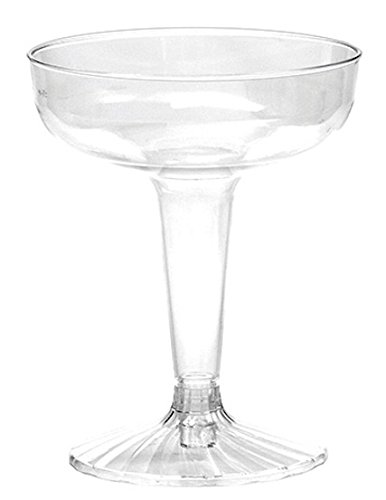 WNA Comet 50 Count 2 Piece Champagne Glasses, 4 oz, Clear