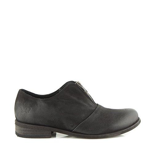 Calzado Zapatos Derby Cuero Bomber para Negro Enamorarse Mujer Felmini Negro com Genuino 9224 aqgw0nd