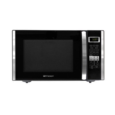 Emerson 1.5 CU. FT. 1000 Watt, Touch Control with Convection and Grill Microwave Oven, Black (Refurbished)