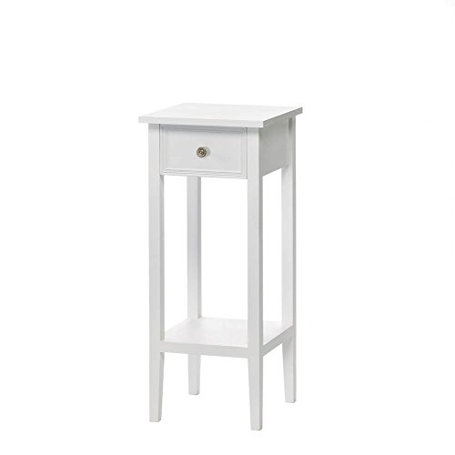 F.A. Decors Classic White Accent Table, Side Table or Plant Stand (Stand White Plant)