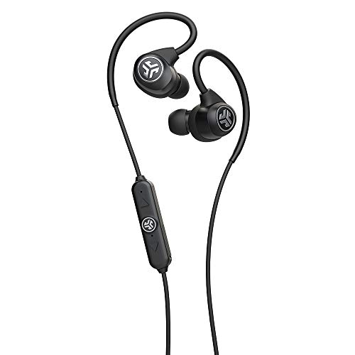 JLab Epic Sport2 Wireless Earbuds | Black | Active Lifestyle 20+ Hour Battery Life | Bluetooth 5 | IP66 Sweatproof…