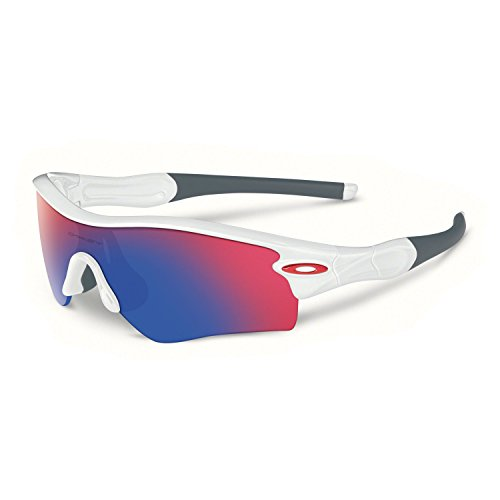 oakley sunglasses for baseball cheap  oakley men's radar path polished white w/ red iridium sunglasses